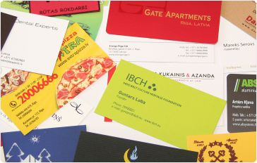 Zīmogu fabrika - vizītkartes