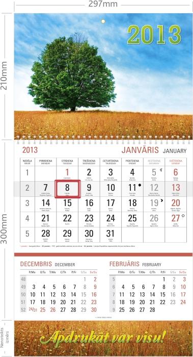 Sienas kalendārs M+