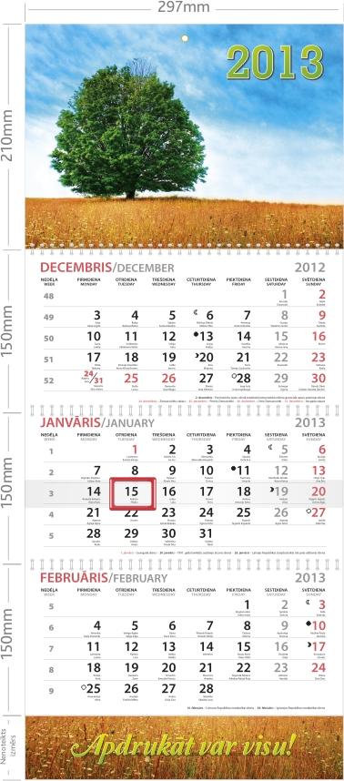 Sienas kalendārs L+