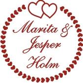Apaļie kāzu zīmogi