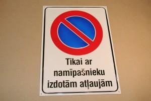 Brīdinājuma zīmes | Plāksnītes