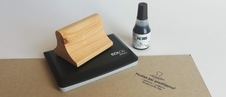 Koka zīmogs + Micro 2 spilventiņš + tinte (25ml)